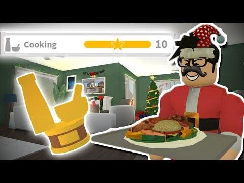 CHRISTMAS STUFF I MISSED! MAXING BLOXBURG COOKING SKILL! Roblox Bloxburg