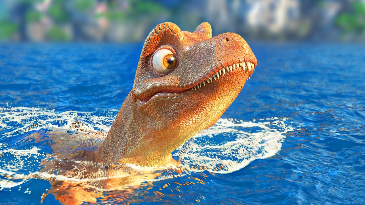 Rexy and the Volcano  Funny Dinosaur Cartoon for Families