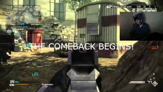 """COD Ghosts: LIVE Double """"KEM Strike"""" w/ MASSIVE COMEBACK! (Call of Duty: Ghost) thumbnail"""