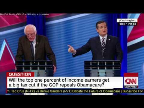 Ted Cruz schools Bernie Sanders on the cost of universal health care.
