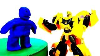 Бамблби и статуя Мегатрона! Трансформеры и Автоботы против Десептиконов!