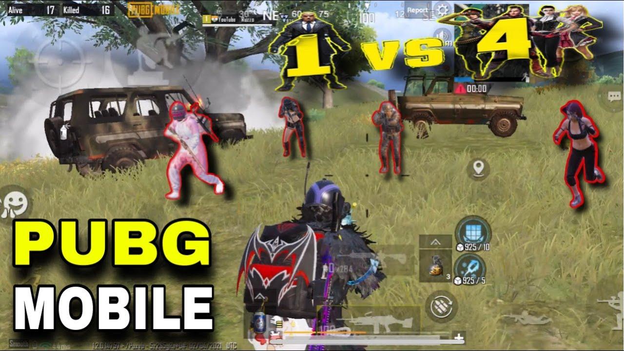 New Best Insane Gameplay?? 4 Finger + Full Gyro Squads vs Ruzzo | Pubg Mobile