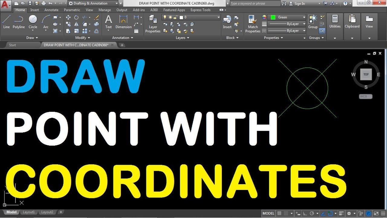 How to Draw a Point with Coordinates in AutoCAD 2018