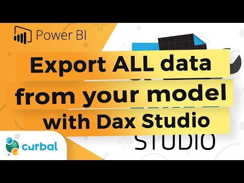 Export one table of data or the entire model with DAX Studio