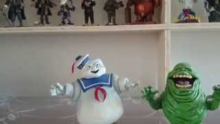 Slimer and Stay Puft Marshmallow Man NECA Headknocker