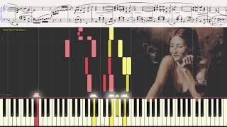Утомлённое солнце (Танго)  (Ноты и Видеоурок для фортепиано) (piano cover)