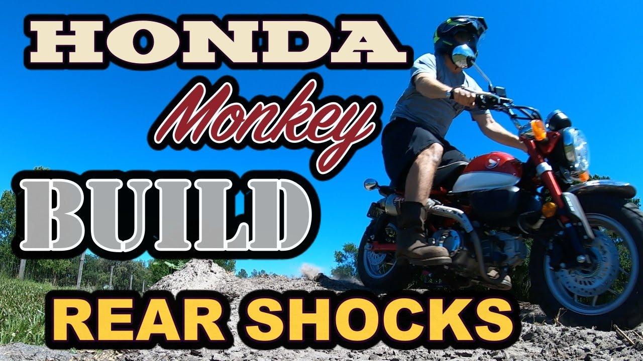 Honda Monkey Mnnthbx Rear Shock Install And Test Youtube