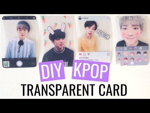 DIY KPOP Transparent Photocard TUTORIAL [4 styles - Sharpie, Camera, Instagram, Snow-App Filter]