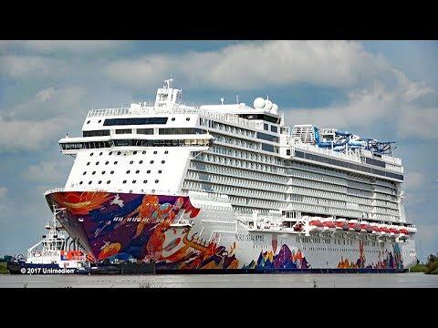 WORLD DREAM 世界夢號 | highlights spectacular amazing river Ems conveyance | 4K-Quality-Video