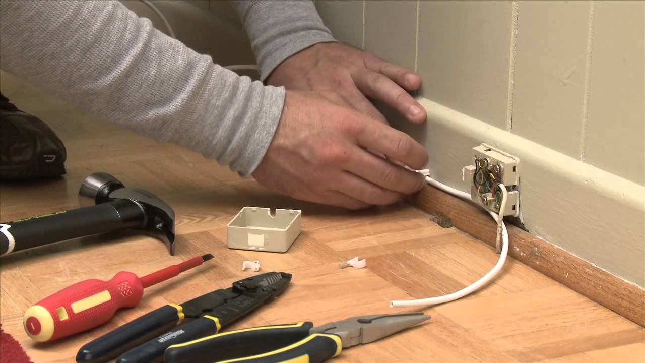 How To Install A Phone Line Youtube Cat 3 Cable Jack Wiring Diagram