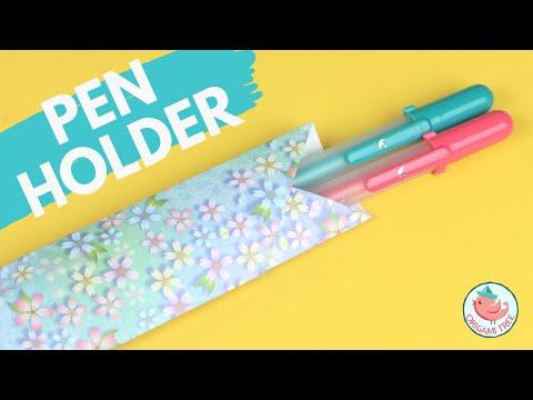 Origami Pen Holder | Easy Paper Crafts!