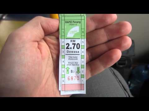 Getting from George Town to Penang Airport by bus