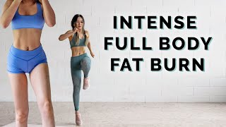 Intense Fat Burning Full Body Workout | No Jumping Variations Included