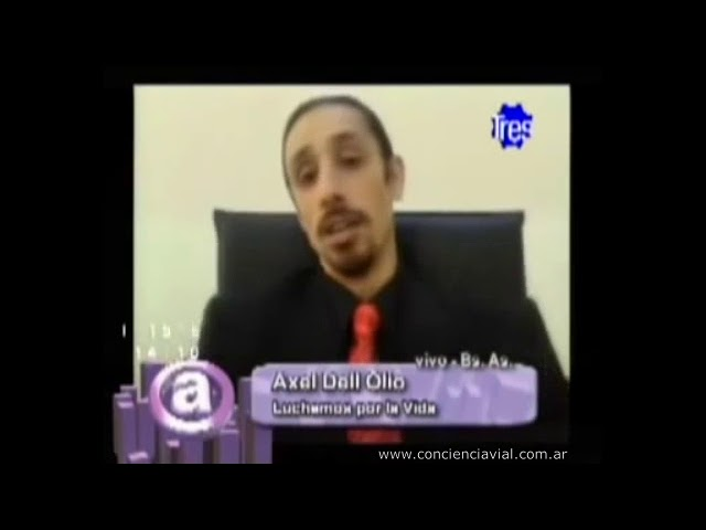 2011 - Canal 3 Rosario - Axel Dell' Olio sobre accidentes en Argentina