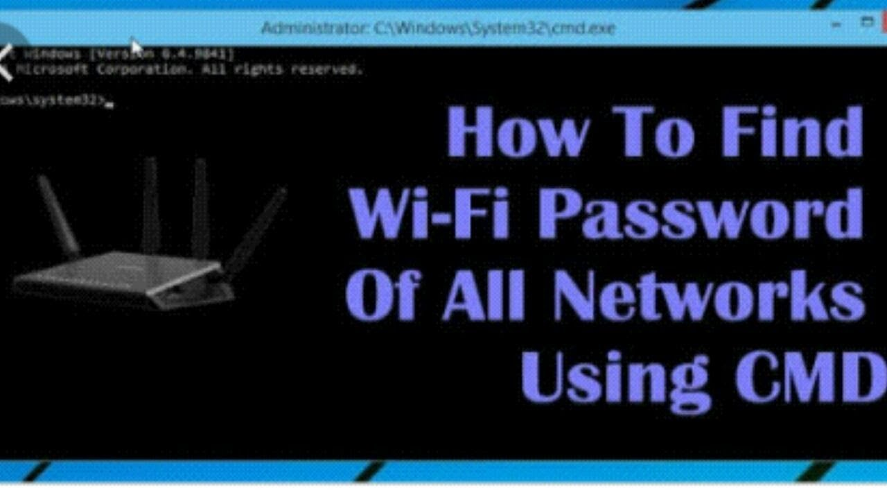 How to hack wifi using cmd 2018
