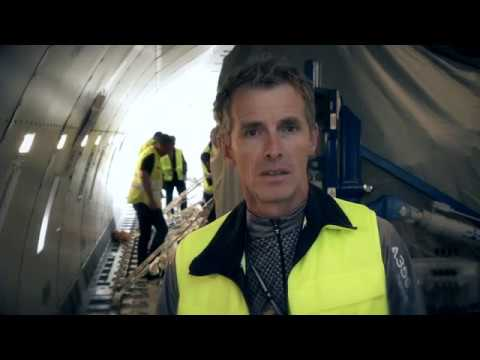Lufthansa Airbus A350-900 Cargo Test Loading of a Trent XWB Engine - Unravel Travel TV