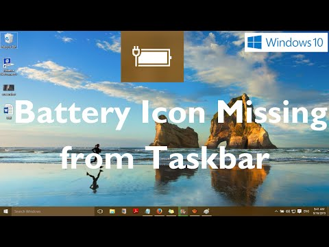 win 10 how to put volume icon on task bar
