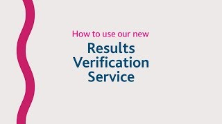 How to use the new Results Verification Service thumbnail