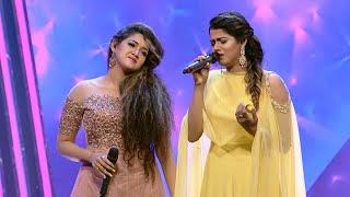 Paadam Namukku Paadam | Amritha Suresh & Abhirami sing Aaromale | Mazhavil Manorama