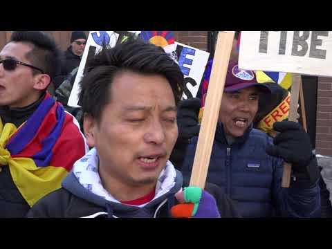calgary tibetans 59th uprising against china.