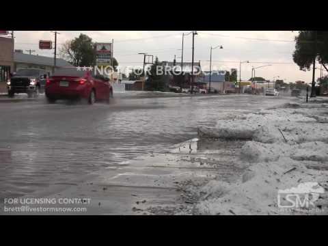 07-01-2017 Las Vegas, NM - Intense severe hail storm and flash flooding