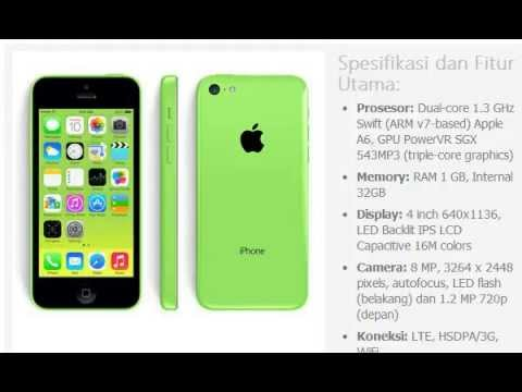 Harga HP  APPLE iPhone 5C 32GB - YouTube ec341138b1