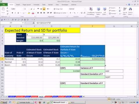 Excel finance class 105 expected return standard deviation for excel finance class 105 expected return standard deviation for portfolio estimating future ccuart Images