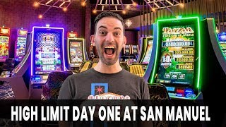 💰 HIGH LIMIT Day 1 @ San Manuel 🐲 5 Dragons Time Baby!