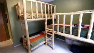 Triple Bunk Beds From Aspen Logs