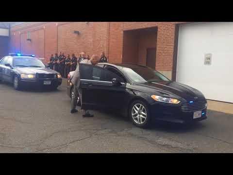 Lisa Ziegert slaying suspect Gary Schara arrives at Agawam Police Department