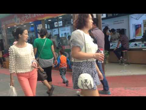 People watching in Urumqi, Xinjiang