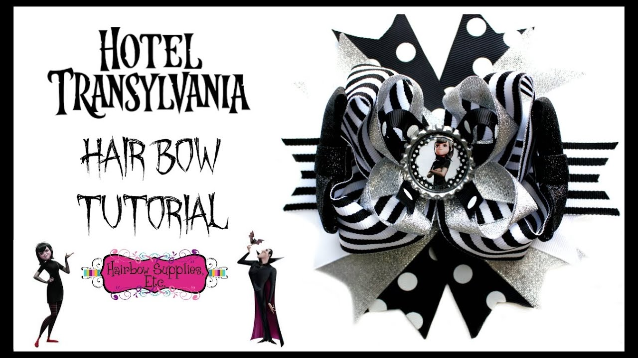 Hotel transylvania hair bow tutorial mavis bow hairbow for Hotel transylvania 2 decorations
