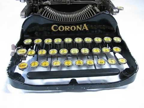 Corona 3 Typewriter from 1921