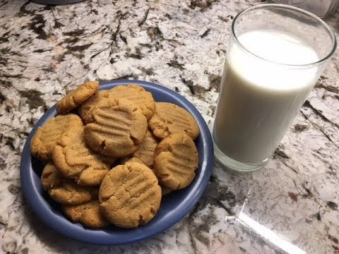 3 Ingredient Peanut Butter Cookies - Easy Recipe