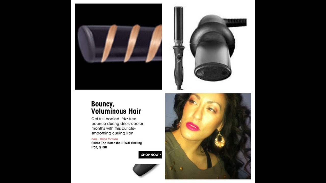 Sultra Bombshell Oval Curling Wand ReviewTutorial