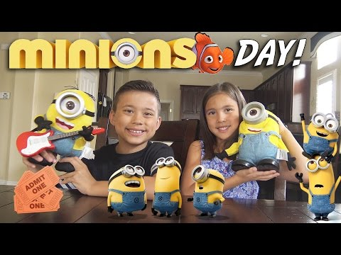 Thumbnail: MINIONS DAY! Surprise TOY Unboxing, Movie Theater, McDonald's Happy Meal Toys!