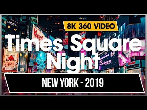 8K 360 VR Times Square Night Noite Visite New York Midtown USA NYC 4K Jonnysbazar Dhyogo