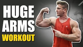 HOW TO GET BIG ARMS | Huge Arm Workout With A TRUE NATTY! (BICEPS & TRICEPS)