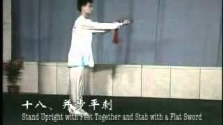 Taijijian  Chen Sitan  32 step Taiji Sword Form