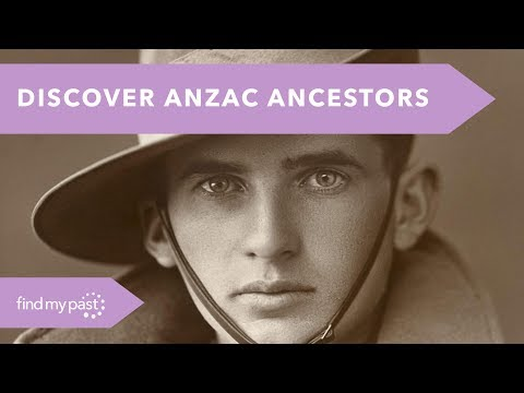 Discover Your ANZAC Ancestors