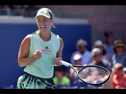 Angelique Kerber Vs. Kristina Mladenovic   US Open 2019 R1 Highlights