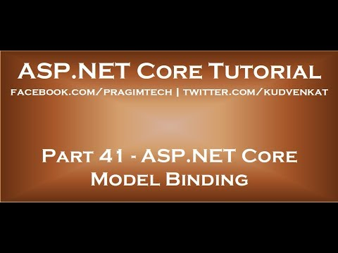 ASP NET Core Model Binding