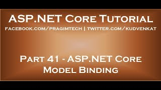 ASP NET Core Model Binding