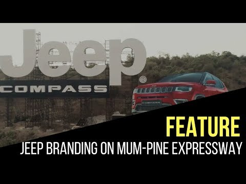 Jeep India branding via biggest billboard