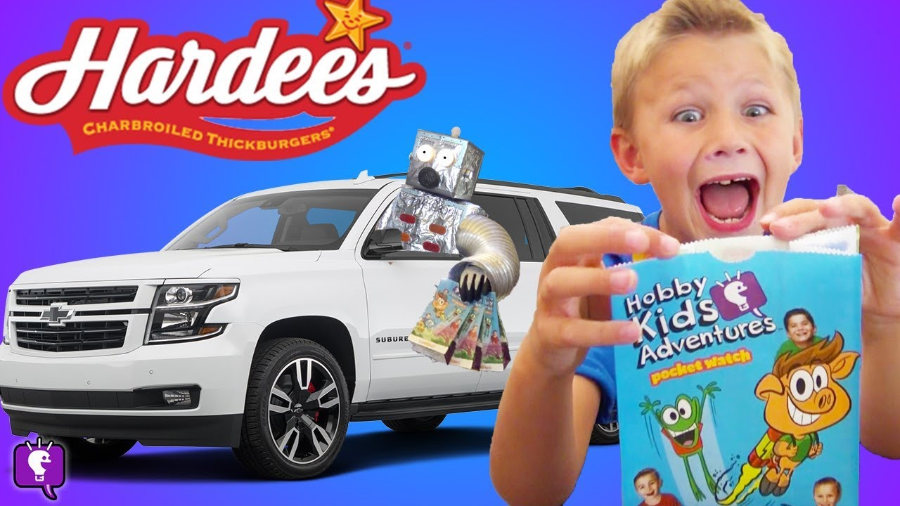Hardee's Drive Thru Robot?! HobbyKids Adventures Star Pals meal REVEAL
