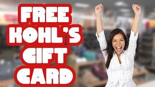 Free Kohl's Gift Card 🛍️ Kohls Promo Codes - Kohls Coupon Codes