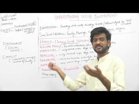 Understanding Social Institutions _ Part2 _ Family _ Sameer Sagar