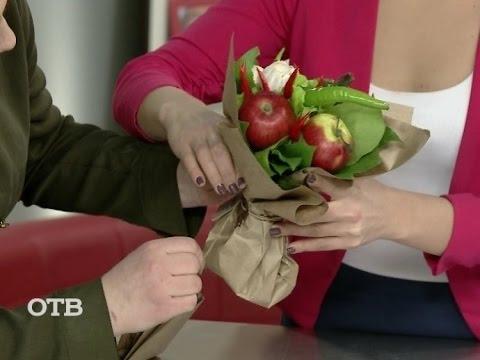Сделать букет из фруктов своими руками
