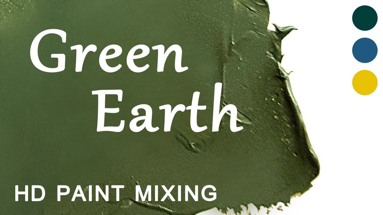 Hd Paint Mixing Green Earth Oil