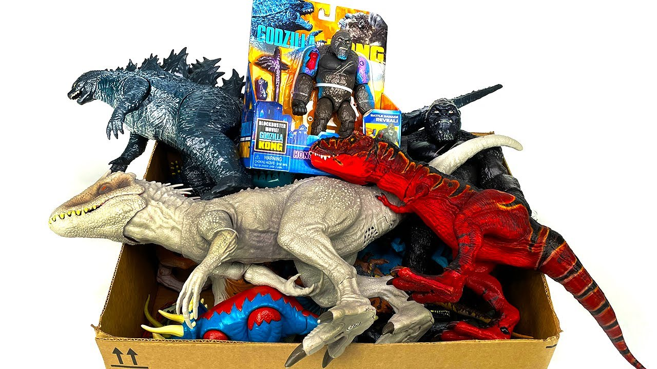 NEW 50+ Gallon Godzilla & King Kong Toy Haul! 1 Hour+ of Jurassic World & Camp Cretaceous Dinosaurs!